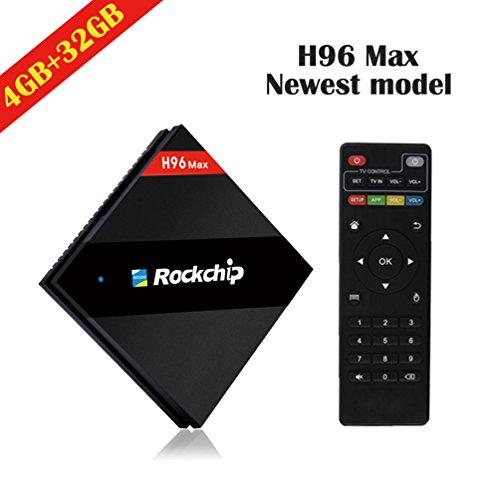4G RAM + 32G ROM ] 2017 Upgraded Version H96 Max TV BOX RK3399 Six