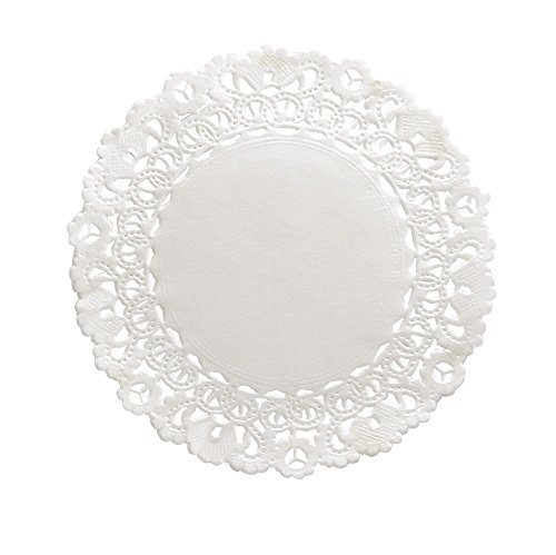 Hygloss 4-Inch Round White Doilies, 100-Pack