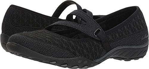 Skechers Relaxed Fit Breathe Easy Boss Lady Womens Mary Jane Sneakers Black 7