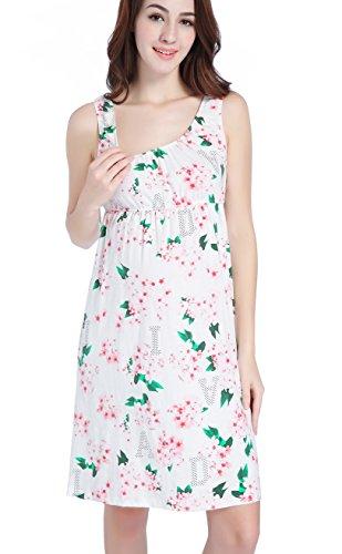 CAKYE Maternity Nursing Nightgown Dress Sleepwear Breastfeeding Pregnancy Pajamas