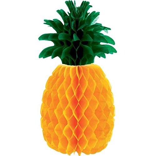 amscan Pineapple Party Honeycomb Centerpiece, 12