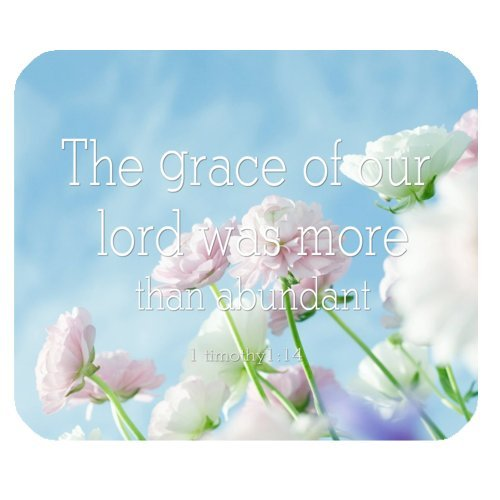 High Quality Christian Bible Verse 1timothy 1:14 Rectangle Non-slip Mouse Pad,Gaming Mouse Pad,Office Mousepads,Desktop Mousepad