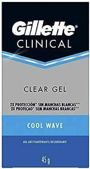 Gillette Endurance Clínical Cool Wave Clear Gel Desodorante 45 g