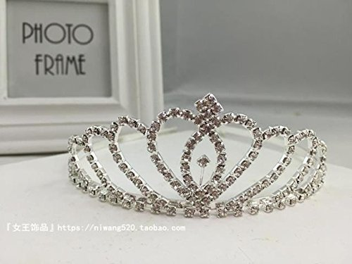 "Price comparison product image Generic Custom ""Queen of Jewelry"" beauty queen crown tiara tiara princess bride married tiara crown tiara tiara Wang Guan plus injustice performances Night"