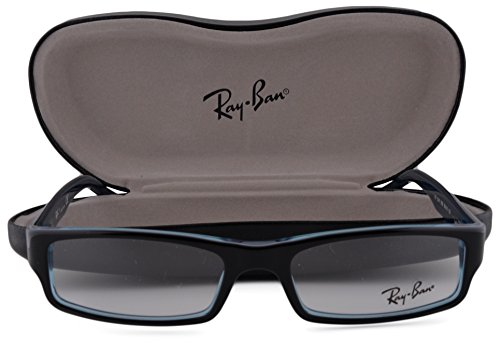 Ray Ban RX5246 Eyeglasses 52-16-135 Black Gray Turquoise 5092 - Ray Wayfarer Cat Eye Ban