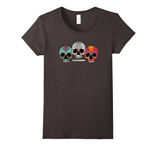 Womens Fear The Walking Dead Three Skull T-Shirt Medium Asphalt -