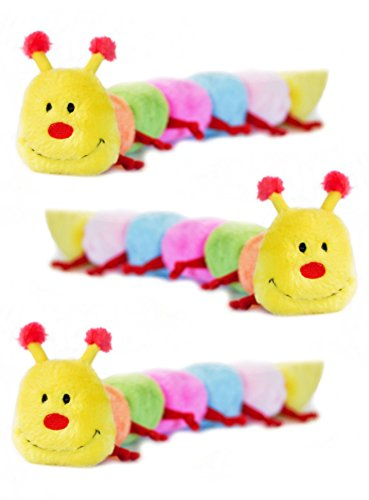 ZippyPaws Caterpillar with 6-Squeakers Dog Toy, Large (3 Pack)
