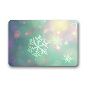"Yestore Custom Winter View Snowman Snowflake 15.7""(W) x 23.6""(H) Non-woven Fabric Multifuntional Doormat"