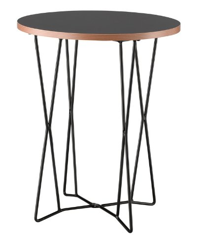 Adesso WK2272-01 Network End Table - Adesso Glass End Table