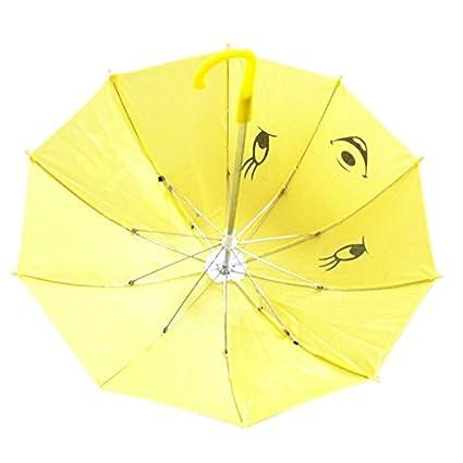 Dcolor Mini Paraguas Diseno de Panda para Ninos - Amarillo