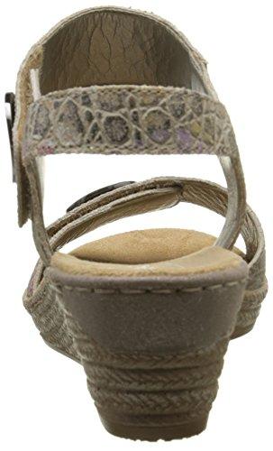 Rieker 62460-60, Bout Abierto para Mujer Beige
