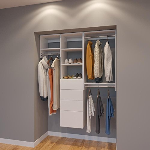 - Modular Closets 5 FT Closet Organizer System - 60 inch - Style A
