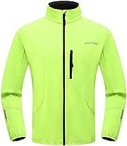 Wantdo Men's Reflective Running Soft Fleece Jacket Waterproof Breathable Windb