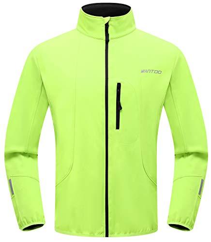 Wantdo Men's Windproof Running Cycling Jacket Waterproof Breathable Coat Green
