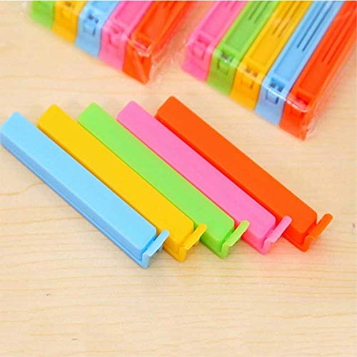 IMIKE 20 Pcs Food Clips Bag Sealing Clips, Multi-color Reusable Storage Bags Sealer Clip Closure Clamp Fresh-Keeping Clamp Sealer for Snacks, Chips & Coffee Bags, 4.4-Inch