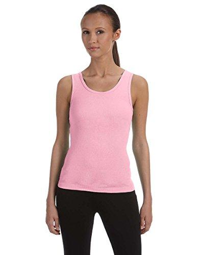 Bella 1080 Womens Stretch Rib Tank - Pink, Small