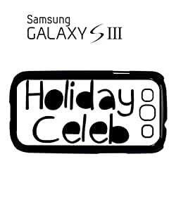 Holiday Celeb Celebrity Summer Mobile Cell Phone Case Samsung Galaxy S3 Black