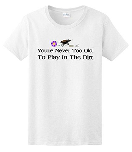 Gardening Gift Never Ladies T Shirt