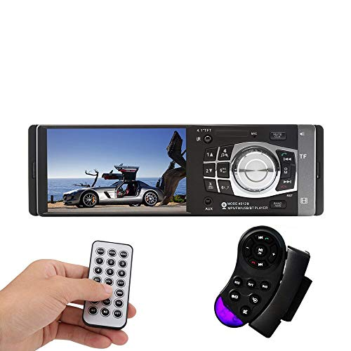 (1 Din Auto 4.1 inch HD Car Multimedia Player MP3 MP5 Audio Stereo Radio Bluetooth FM Remote Control With Rear View Camera)