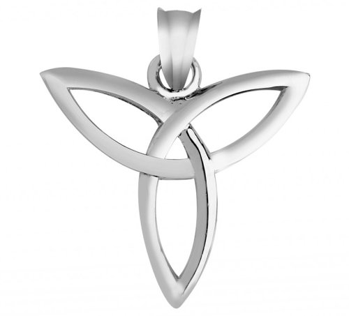 10 Trinity Pendant - Classic Gaelic Trinity Pendant in 10k White Gold