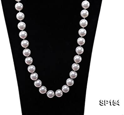 Collar Perlas Shell Gigantes Plata 1ª Ley 925 Nuevo.