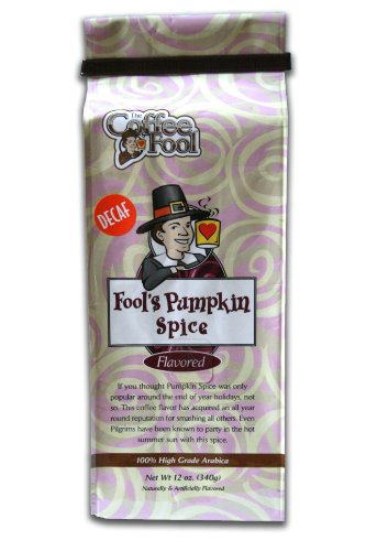 The Coffee Fool Fool's Whole Bean, Decaf Pumpkin Spice, 12 Ounce (Coffee Fool Decaf Whole Bean compare prices)