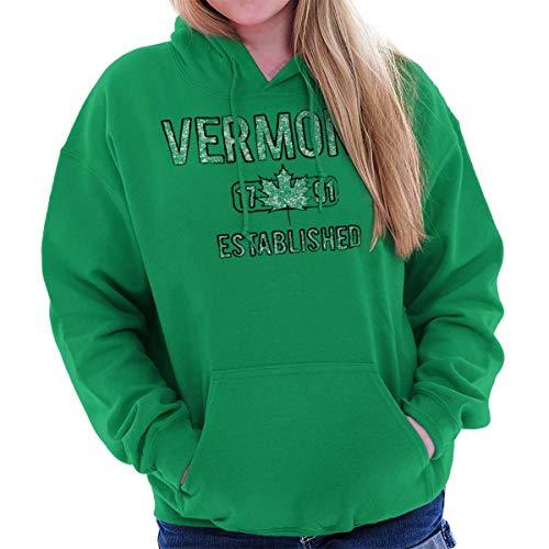 Vermont Maple Leaf Syrup Workout Americana Hoodie Irish Green (Maple Leaf Vermont)