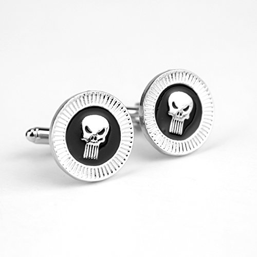 ***Premium Quality** The Punisher Skull Cufflinks Punisher Personality Skeleton Cufflinks Shirt Accessory**Limited Edition