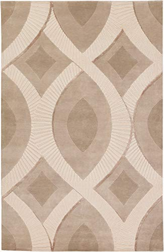 - Weleetka Contemporary Global 2' x 3' Rectangle 100% Semi-Worsted New Zealand Wool Olive/Beige/Taupe Area Rug