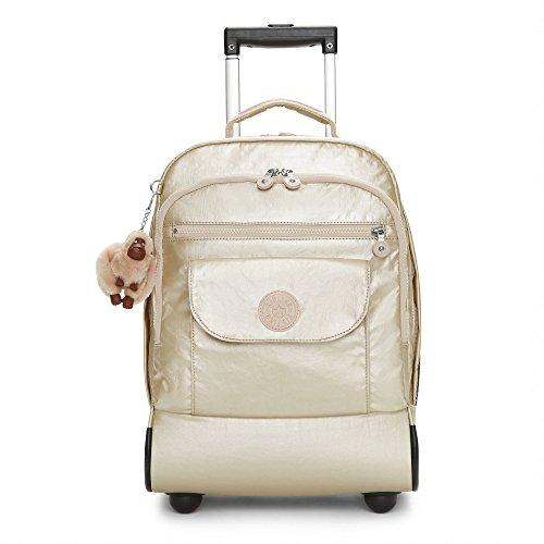 Kipling Sanaa Sparkly Gold Rolling Backpack, SPARKLYGLD
