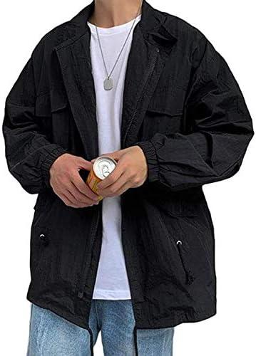 [ウンセン]ジャケット メンズ 長袖 UVカット アウター 薄手 大きいサイズ ファッション 日焼け止め 夏物 ブルゾン ジャンパー サマージャケット