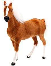 NC Mini Realistic Plush Horse Animal Figure Soft Plush Animal Toy - Brown, as described
