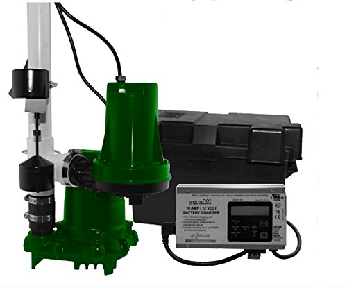 Zoeller 508-0006 Aquanot 508 ProPak53 Preassembled Sump Pump System with Battery - Automatic System Sump Backup Pump