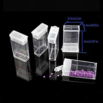 Diamond Embroidery Box 4 Packs 56 Grids Eiito 5d Siamond Box and Cross Stitch Tools Accessory Containers for DIY Art Craft Diamond Painting Box