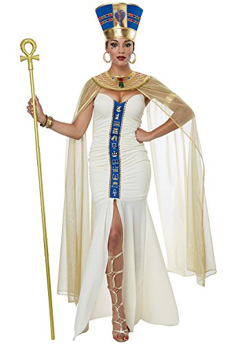 California Costumes Women's Queen of Egypt Adult Woman Costume, Cream/Blue -