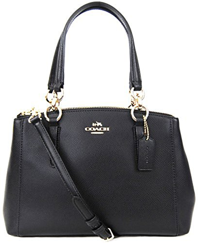 coach bag clearance outlet nueu  Coach F36704 Mini Christie Carryall in Crossgrain Leather Black