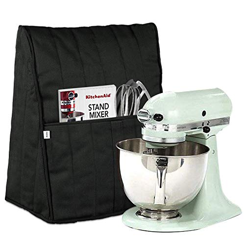 Homai Stand Mixer Cover for 4.5/5/6/7 Quart KitchenAid Mixer, Cloth Dust Cover with Pocket for Extra Attachments - Mixer Stand Cover
