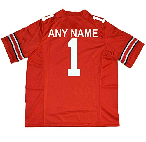 - yicana Ohio State Jerseys #1 Any Name Red Size (Large)