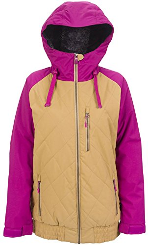 Powder Room City Ski Jacket 2015, Berry/Cashew, S by Powder Room