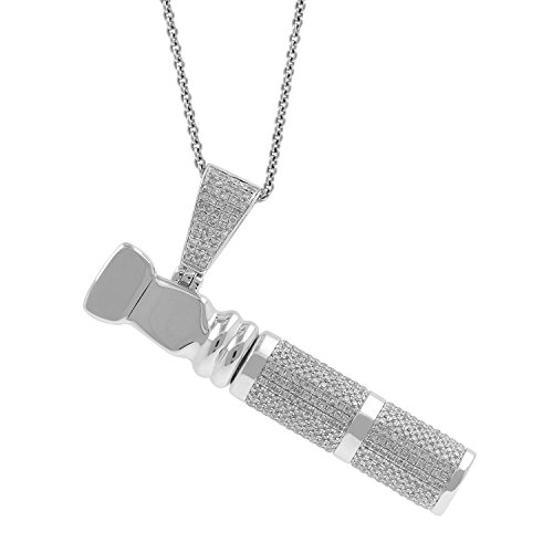 2.54ct Diamond Cigarette Pipe Holder Mens Hip Hop Pendant Necklace in 925 Silver by Isha Luxe-Hip Hop Bling