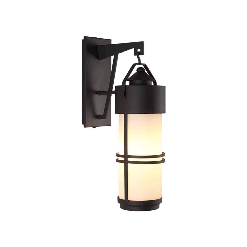 consegna gratuita Retro Applique outdoor nera nera nera impermeabile IP44 lampada da parete esterna balcone cortile casa scala di ingresso casa lanterna patio corridoio decorazione della parete di illuminazione 20  12  39 cm  sport caldi