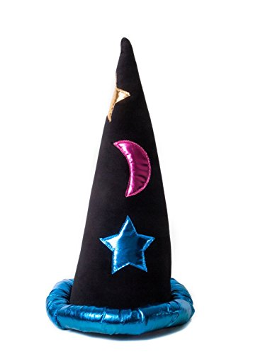 Funny Party Hats Wizard Hat - Merlin Hat - Wizard Costume Accessories - Black Wizard Hat (Colorful)]()
