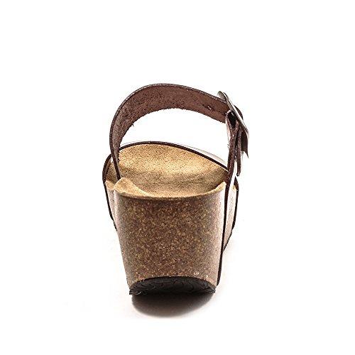 Donna sandali sandali Plakton Plakton Sabot Sabot Marrone 1vgX7xq