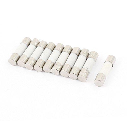 10 Pcs 250V 10A F10A Coup rapide C/éramique Tubes Fusibles 5mm x 20mm