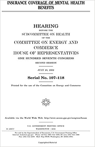 Insurance Coverage Of Mental Health Benefits United States Congress