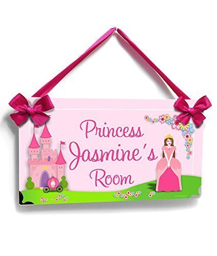 Custom Teens Room Name Sign Adorable Pink Princess Theme Princess Castle - Personalized Princess Plaque