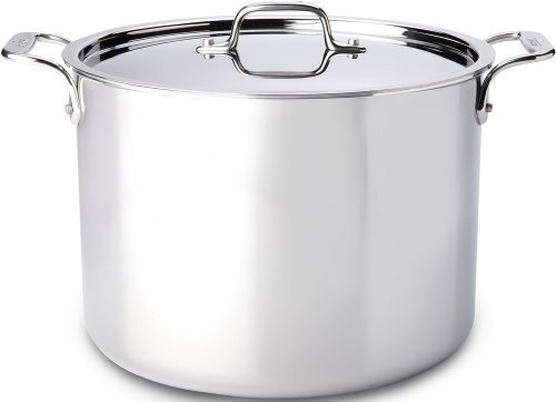 All-Clad 4512 Stainless Steel Tri-Ply Bonded Dishwasher Safe Stockpot with Lid / Cookware, 12-Quart, Silver by All-Clad