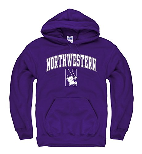 Northwestern Wildcats Adult Arch & Logo Gameday Hooded