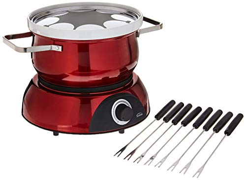 Trudeau 0829192 Electric Scarlet Fondue Pot, 84 oz, Red