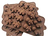 Dinosaur Candy Mold Ice Cube Trays, 3 Pack Silicone Chocolate Non-Stick Ice Cube Tray Kitchen Baking Mould